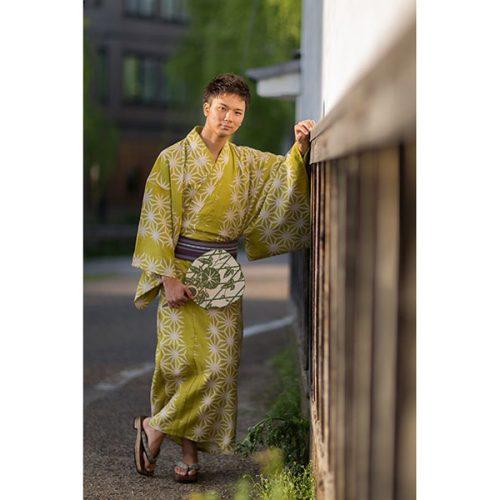 麻の葉-黄